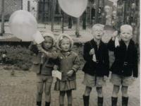Feest  it Heeg 1957 Wout,Hielke Sietske en Jelle Merkus